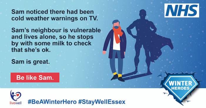 Health teams together with Livewell Essex to create messages to help us help you this winter.