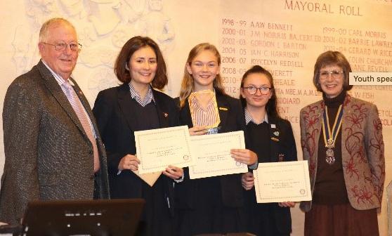 Rotary Club host schools youth debate