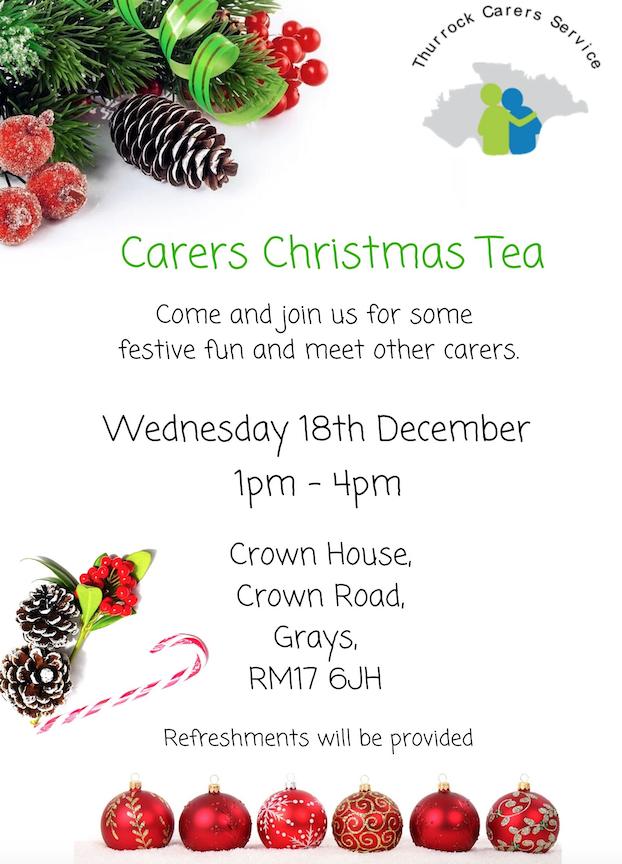 Thurrock Carers Christmas Tea
