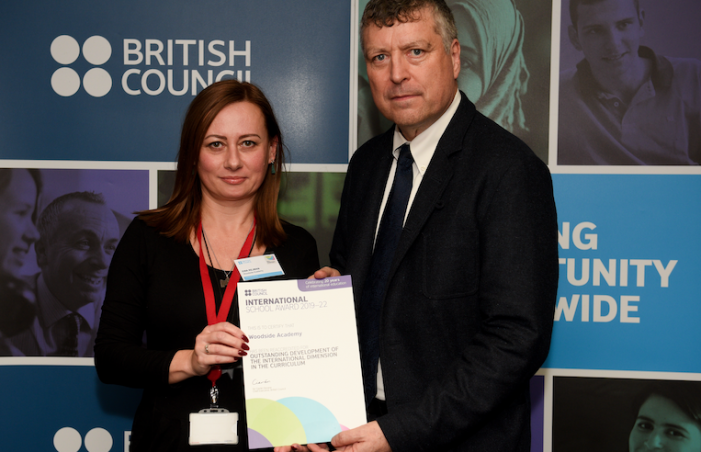 British Council International School Award success for Woodside Academy