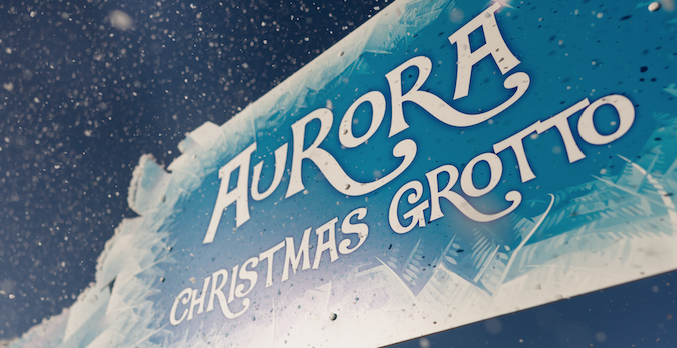 intu Lakeside: Aurora Explorer themed grotto located in The Quay.