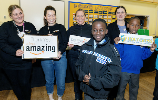 Education charity boosted by donation from Amazon in Tilbury