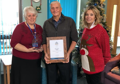 Longstanding volunteer at St. Luke's Hospice wins award for commitment to charity.