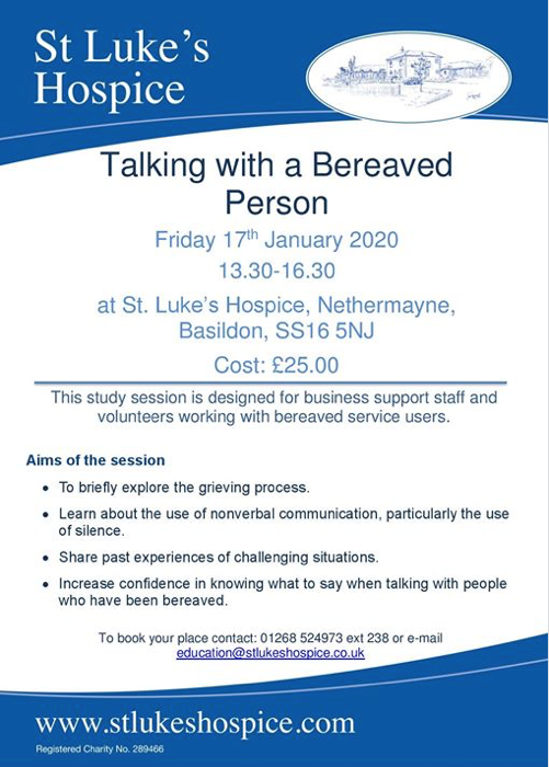 St Luke's Hospice to host event on the grieving process