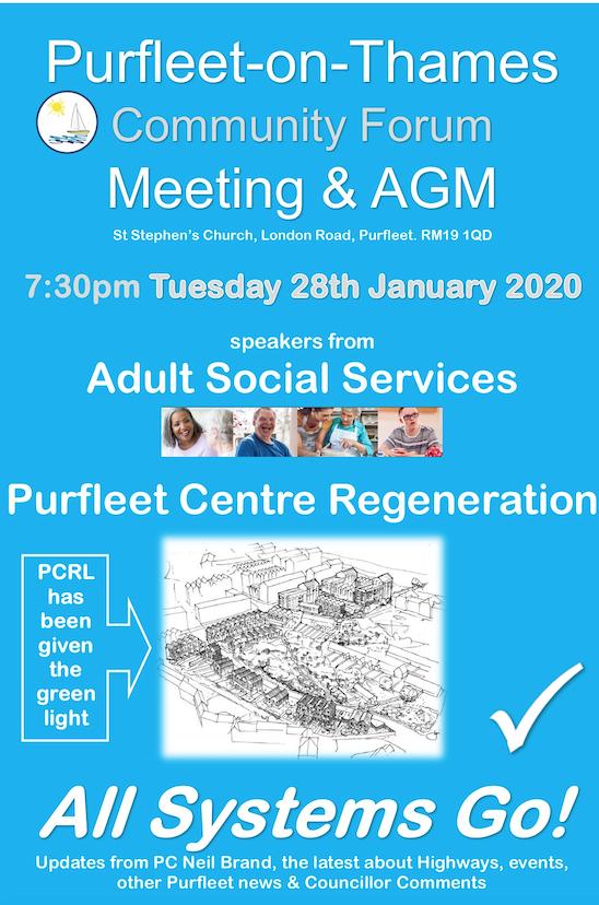 Purfleet-on-Thames Community Forum set to host AGM