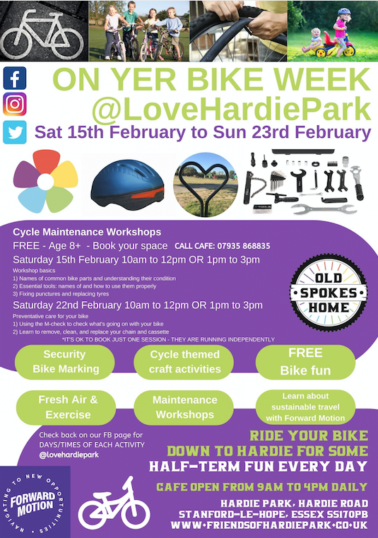 Love your bike week at Hardie Park