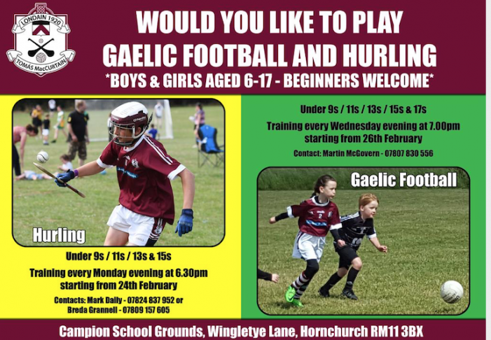 Fancy playing Gaelic Football and Hurling?