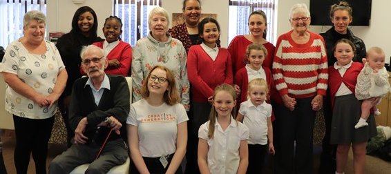 Creative workshops are a hit with Thurrock's older generation and school children