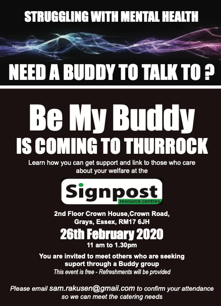 Could you Be My Buddy in Thurrock?