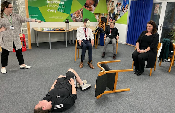 Ormiston Park Academy's theatrical wellbeing session
