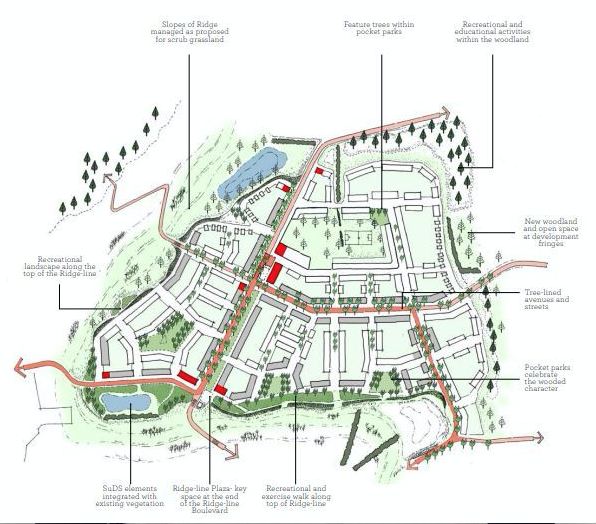 Over the border: Dunton Hills garden village school plans revealed