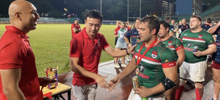 Former Thurrock resident wins rugby cup in Singapore