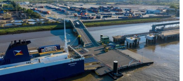 UK's newest driverless ferry freight terminal has opened in Tilbury.