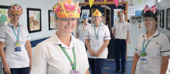 Paediatric team PPE made more child-friendly