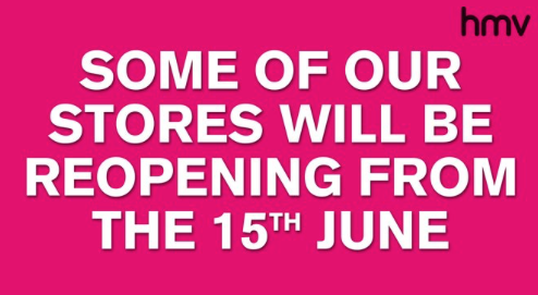 HMV in Thurrock set to re-open on Monday