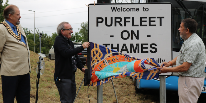 Celebrations as Purfleet officially renamed Purfleet-on-Thames