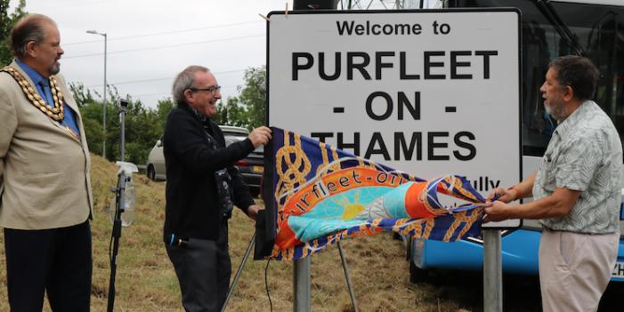 Celebrations as Purfleet officially renamed Purfleet-on-Thames