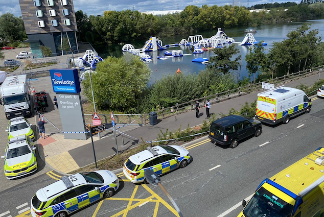 Search for missing teenager in water at Lakeside