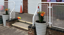 Planters brighten up Grays Beach Park