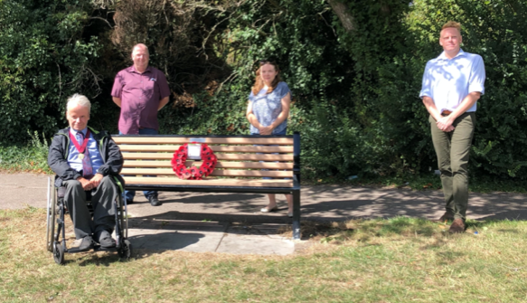 Park bench dedicated to D-Day planners removed as Thurrock Council prepares to begin work on £10m council offices