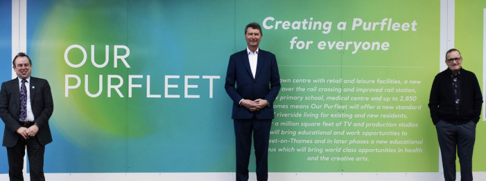 Community hoarding unveiled in Purfleet-on-Thames