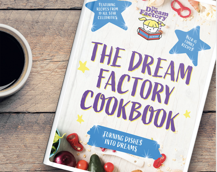 The Dream Factory is turning dishes into dreams in a brand new ECookBook with 46 recipes including 19 All-Star celebrities