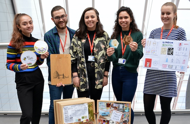 South Essex College art students add their flair to top hotel chain