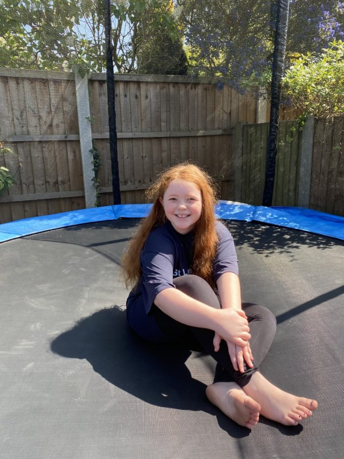 10-year-old joins 2.6 challenge with trampoline fundraiser for St.Luke's Hospice