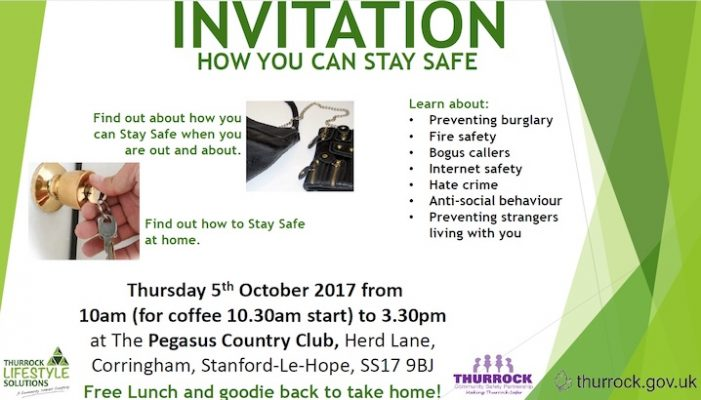 Thurrock Lifestyle Solutions to host Stay Safe Conference