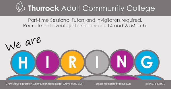 Part-time job opportunities locally in adult education