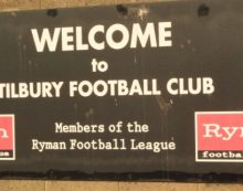 Football: Tilbury fall to home defeat on first defeat of the season