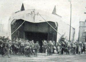 Tilbury docks June 1944 -troops loading for D-day