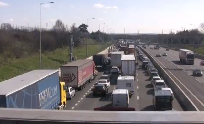 Man trapped in vehicle on M25 near Thurrock