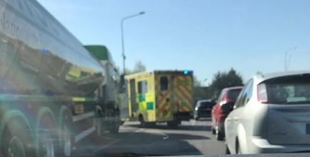 Road traffic incident on Treacle Mine roundabout in Thurrock