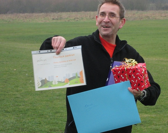 Thurrock parkrun: Thanks Trevor for all you have done