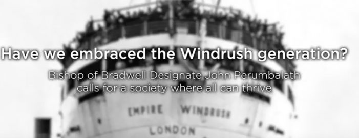 Bishop reflects on the eve of Windrush