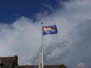 Resident Peter Watson shared this image of the flag on Facebook.